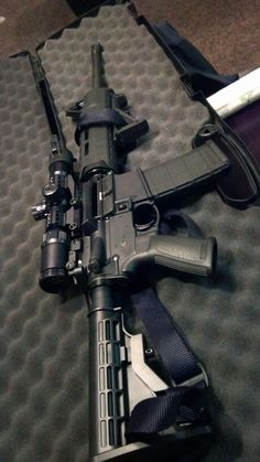 Ruger AR556.. BARSKA 1-4x28, Magpul SL Handguard, AFG, Ruger flip-up rear sight