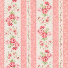 Bavlněná látka Růžičky v pruzích růžová Rose for You Flowery Wallpaper, Pattern Wallpaper, Shabby Flowers, Vintage Flowers, Galaxy Phone Wallpaper, Shabby Chic Paper, Paper Art, Paper Crafts, Printable Scrapbook Paper