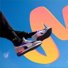 Baskets, Puma Classic, Rider, 80s Design, Pumas, Silhouette, Ultra Violet, Bold Colors, Nike Logo
