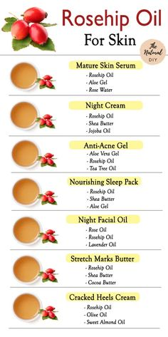 Rosehip Oil For Skin, Rosehip Oil Benefits, Benefits Of Almond Oil, Rosehip Oil Uses, Castor Oil Benefits, Rosehip Seed Oil, Homemade Skin Care, Diy Skin Care, Natural Oils For Skin