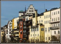 Häuserzeile in Wasserburg am Inn