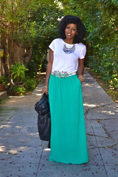Let me get out of my sewing funk and make a few maxi skirts!