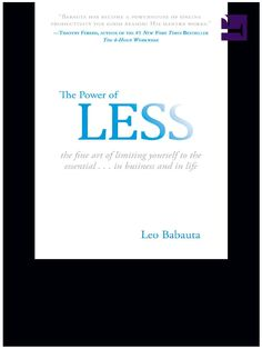#ClippedOnIssuu from The power of less by Leo Babauta