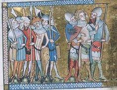 Fol. 037v, Porrus: Scene, taken Prisoner : miniature. Published/Created:      [Northern France or Belgium, possibly Tournai, ca. 1350]