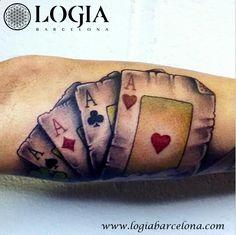 Φ Artist URI TORRAS Φ Info & Citas: (+34) 93 2506168 - Email: Info@logiabarcelo... www.logiabarcelon... #logiabarcelona #logiatattoo #tatuajes #tattoo #tatuador #tattooink #tattoolife #tattooworld #tattoobarcelona  #tattoosenbarcelona #ink #artisttattoo #inked #inktattoo #tattoocolor #tattooartwork #poker #cards