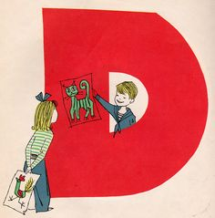 """N is for Nursery School"" written by Blossom Budney, illustrated by Vladimir Bobri (1956)."