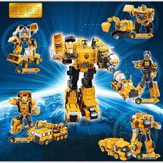 合金のエンジニアリング·トランスフォーメーション·ロボット車の変形おもちゃ2で1金属合金建設車両トラック組立ロボット子供のおもちゃ