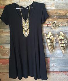 I Gotta Feeling Tunic Dress: Black