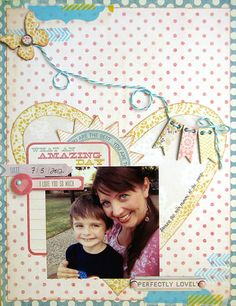 Super cute layout by @Daniela Dobson using The Sweetest Thing Collection by My Mind's Eye.