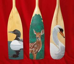 Paintings by Cathy Parkes: Hand painted Paddles