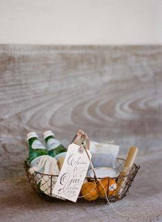 Thoughtful welcome basket for your guests