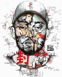 Cowboy Bebop x Kendrick Lamar Art by Feggy Min (@feggyminart)