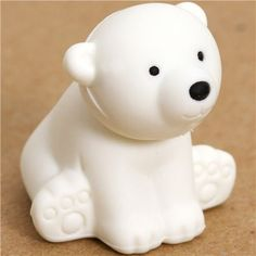 """white bear eraser by Iwako from Japan by Iwako. $1.39. by Iwako, Import from Japan. perfect for your collection, as a present, for school, kindergarten or office. very good quality, super cute design. funny eraser with a small sitting bear, collection """"Wild Animal"""". size: 3cm (1.1""""). cute Japanese eraser with small sitting bear"""