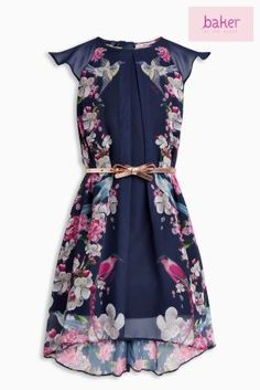 1a0dc6ca954b4 Baker By Ted Baker Navy Floral Print Dress