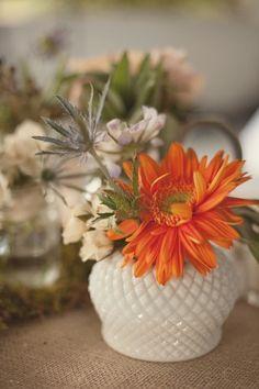 Orange Flowers, Cut Flowers, Milk Glass Vase, Flower Quotes, Glass Collection, Flower Arrangements, Centerpieces, Bloom, Sweet September