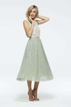 Chic Peek: Spring Paper Crown Collection.  Pleated chiffon midi skirt.  So beautiful for summer.