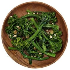 Side: Broccolini with Pine Nuts and Raisins More