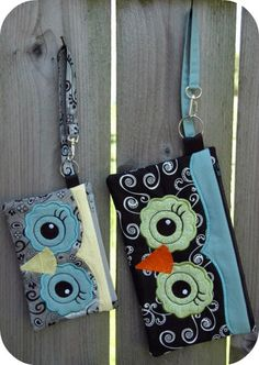 In The Hoop :: Purses & Wristlets :: Owl Wristlet 5x7 -