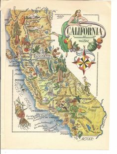 90 Best Vintage California Maps images