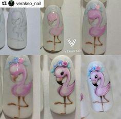 Lindo rosa flamingo nail art tutorial passo a passo Source by stylewithingrace Art Rose, Rose Nail Art, Rose Nails, 3d Nail Art, 3d Nails, Nail Arts, Pink Nails, Nail Art Modele, Panda Nail Art