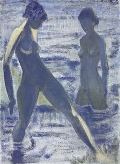 Mueller, Otto - 1927 Bathers ⚓the coastal agrarian Expressionist Artists, Expressionist Art, Figure Painting, Degenerate Art, Painting, Female Art, Art, German Art, Artwork Painting