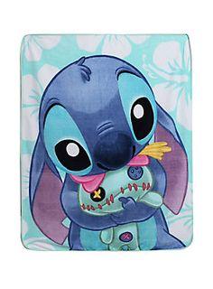 "<p>Soft, warm and cuddly throw from Disney's <i>Lilo & Stitch</i> with Stitch & Scrump design.</p>  <ul> <li>48"" x 60""</li> <li>100% polyester</li> <li>Imported</li> </ul>"