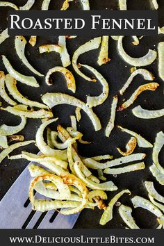 Roasted Fennel is a delicious, somewhat unique, side dish recipe. It's easy to make and can be served alongside of most main dishes. Fennel is a low carb, low glycemic vegetable which makes this recipe ideal for those following a low carb or keto diet. | #fennel #lowcarb #keto #ketosidedish #sidedish