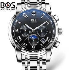 Relogio Masculino ANGELA BOS Waterproof Week Month Date Watch Men Fashion Luminous 12/24 Hours Quartz Wrist Watch Clock Saat. Yesterday's price: US $89.90 (78.08 EUR). Today's price: US $36.86 (32.01 EUR). Discount: 59%.