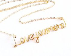 Love You More Necklace. Gold Love you more necklace. Love Necklace