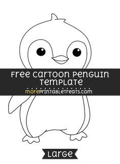 Free Cartoon Penguin Template - Large
