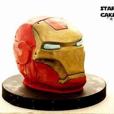 Avengers Birthday Cakes, Superhero Birthday Cake, Super Hero Food, How To Make Iron, Ironman Cake, Iron Man Birthday, Cake For Husband, Iron Man Helmet, Bithday Cake