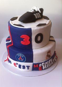 Gâteau foot PSG et réal de Madrid