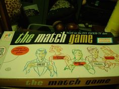 Vintage Milton Bradley The Match Game Board Game...1965...Incomplete