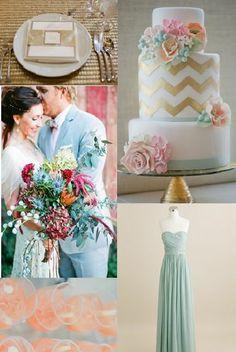 {Mint, Blush, & Gold} Wedding Inspiration