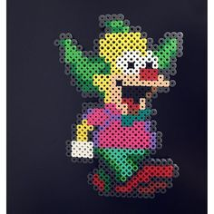 Krusty (The Simpsons) perler beads by gratia88