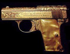 Lilliput pistol  Model 1 Calibre 7,65 mm said to be one of Adolf Hitler's guns.