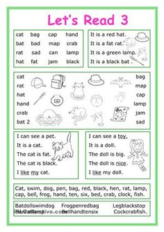 This worksheet is for Elementary school students at Beginner level who learn reading and their vocabulary is not too big. The worksheet is good for developing Reading and Writing skills.There are7 exercises with short