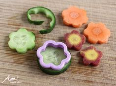 Four Flowery Ideas for Kids' Lunches - Veggie Dippers by Wendy Copley for Alphamom.com