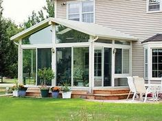 Screened Porch With Shed Roof And False Gable Outdoor