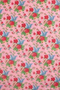 Vintage Home - Floral Chintz Eiderdown Fabric: www.vintage-home.co.uk