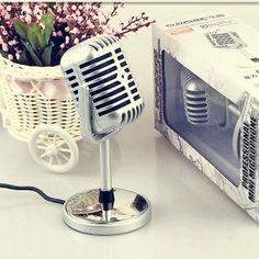 Transhine Classical Design Retro Condenser Studio Microphone Mic Silver