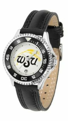 Wichita State Shockers Competitor Ladies Watch with Leather Band by SunTime. $74.55. The hottest sports watch on the market, the Competitor features the Wichita State Shockers team logo boldly displayed on the dial along with a colorful rotating timer/bezel, quartz accurate movement and leather/nylon strap. The combined leather underneath and nylon on top makes the watch water resistant as well.¶Wear it to a game, while watching a game or just to show off your NCAA pride w...