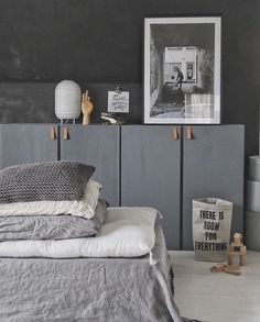 home decor inspiration Cosy Bedroom, Small Room Bedroom, Bedroom Decor, Ikea Units, Beautiful Interior Design, Bedroom Styles, Home Decor Inspiration, Living Room Decor, Home Furniture