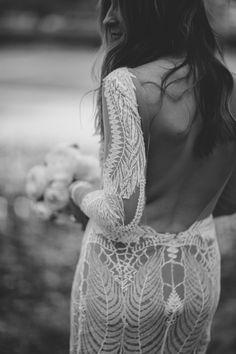 boho bride // bohemian wedding // lace wedding dress // crochet wedding gown
