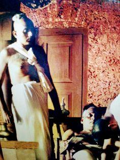 Jayaprakash Mallay and matinee idol  Babu Nambudri  in tele film 'Yajnam' shot from Naras Mana in December 1997
