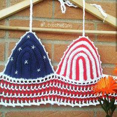 Crochet Top Croptop  America @f_crochetaria
