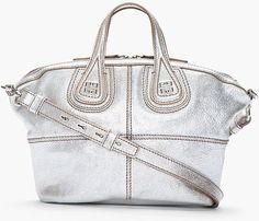 Givenchy Metallic Silver Leather Micro Nightingale Bag - Lyst