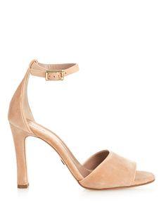 Ankle-strap velvet sandals  | Chloé | MATCHESFASHION.COM US