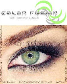 Color Fusion Glistening Green Contact Lenses