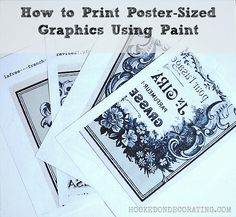 How to print poster sized graphics on your home printer using paint